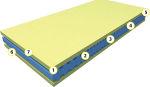 Матрас ViscoEnergy (Вискоэнерджи) - Беспружинный матрас ViscoEnergy (Вискоэнерджи) изготовлен из пеноблока OrtoFoam со структурой