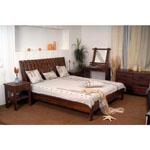 Кровать IDAHO 0170-UVJ - Кровать IDAHO 0170-UVJ выполнена из массива гевеи и дерева мербау. Массивная, декорированная кожей, в сочетании цветов, она создает впечатления средневековья.