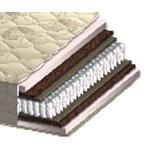 Матрас Сонель NEW - Матрас производителя Акант Сонель NEW - это двусторонний матрас на основе пружинного блока Pocket Spring, пенополиуретана и кокосовой койры. Матрас с эффектом зима/лето.