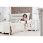 Кровать Екатерина 160 - Кровать Екатерина 160 изготовлена из натурального дерева и МДФ, покрытого натуральным шпоном. Техника окрашивания кровати - крокалет.