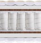 Матрас Rio Plus (Рио Плюс) - Двусторонний жесткий матрас Rio Plus (Рио Плюс) с независимым блоком пружин системы Pocket Spring (каждая пружина в независимом чехле) и экологически чистыми, натуральными слоями кокосового волокна. Рекомендуемая нагрузка на матрас - до 130 кг.