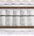 Матрас Sofia Luxe (София Люкс) - Двусторонний матрас Sofia Luxe (София Люкс) изготовлен на основе пружинного блока Pocket Spring (каждая пружина в независимом чехле). Рекомендуемая нагрузка - до 130 кг. Чехол у матраса жаккардовый с глубокой прошивкой и антибактериальной пропиткой.