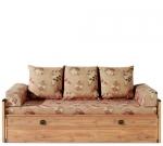 Кровать - диван Индиана (Indiana) БРВ (BRW) - Раскладной диван-кровать Индиана (Indiana) БРВ (BRW) в стиле дикого запада имеет отделение под постельное бельё. Кровать оснащена матрасом с ортопедическим эффектом, двумя валиками и тремя подушками.