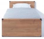 Кровать Индиана (Indiana) БРВ (BRW) - Кровать Индиана (Indiana) БРВ (BRW) создана в стиле дикого запада с металлическим декором на углах. Кровать очень эффектная, поэтому произведёт должное впечатление на всех, особенно на детей и подростков.